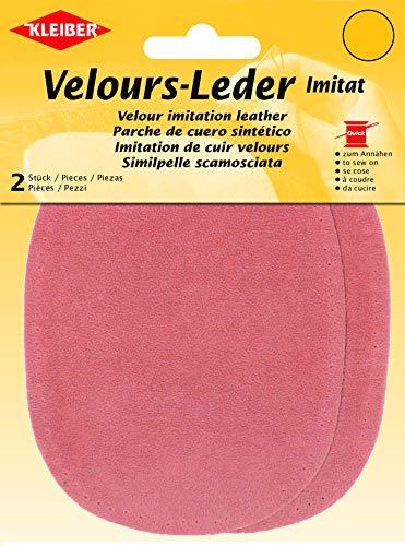 Kleiber 12.5 x 10 cm Patchs à Coudre Simili Daim pour Genoux/Coudes ovales, Rose Saumon