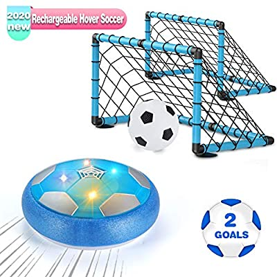 OMWay Kids Toys for 3-10 Year Old Boys, Hover Soccer Ball,2020 Christmas Birthday Gifts for Boys Age 4 5 6 7 8 9, Kids Games for Indoor Outdoor Backyard Outside, 2 Goals and Nets Included.