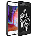 CasesOnDeck Case Compatible with Apple iPhone 7 / Apple iPhone 8, Slim Precise Fit TPU Case, Scratch Protection and Unique Design (Fishing USA Bass)