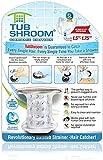 "TubShroom Tub Drain Hair Catcher, Chrome – Drain Protector and Hair Catcher for Bathroom Drains, Fits 1.5"" – 1.75"" Bathtub and Shower Drains"