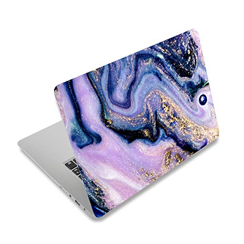 "ArtSo Laptop Skin Sticker Decal, 12"" 13"" 13.3"" 14"" 15"" 15.4"" 15.6 inch Laptop Universal Netbook PC Notebook Vinyl Reusable Skin Sticker Cover Art Decal Case Protector Personalized, Purple Marble"