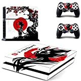 Dragon Ball - PS4 Skin Console and 2 Controller, Vinyl Decal Sticker Full Cover Protective by Tullia