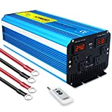 Yinleader 4000W DC 24V to AC 110V/120V Pure Sine Wave Power Inverter Heavy Duty with 4 AC Outlets with Remote Control 3.1A USB and LED Display for RV Car Solar System Emergency