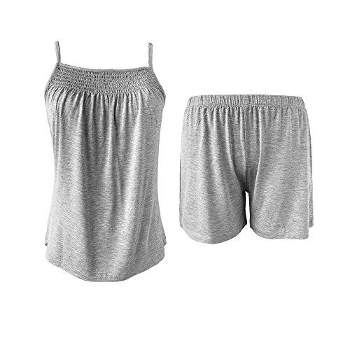 New Sleepy Time Women's Bamboo Pajamas, Night Sweat Moisture Wicking Sleepwear (X Large, Grey)