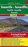 Tenerife, mapa de carreteras de bolsillo plastificado Island Pocket. Escala...