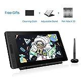 HUION KAMVAS Pro 13 tablettes Graphiques avec écran, Niveaux 8192 Pression Stylo sans Batterie avec Fonction d'Inclinaison avec 4...