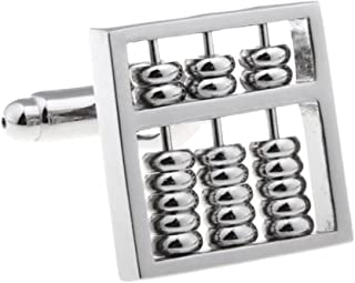 YOFEEL Abacus Really Moves Accountant CPA Pair Cufflinks in a Presentation Gift Box & Polishing Cloth