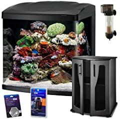 This REEF PACKAGE combines the Size 32 LED BioCube with the BioCube Stand and BioCube Protein Skimmer along with a BioCube Algae Cleaning Magnet and Coralife Mini Hydrometer The Coralife NEW STYLE Size 32 LED BioCube Aquarium features LED lighting an...