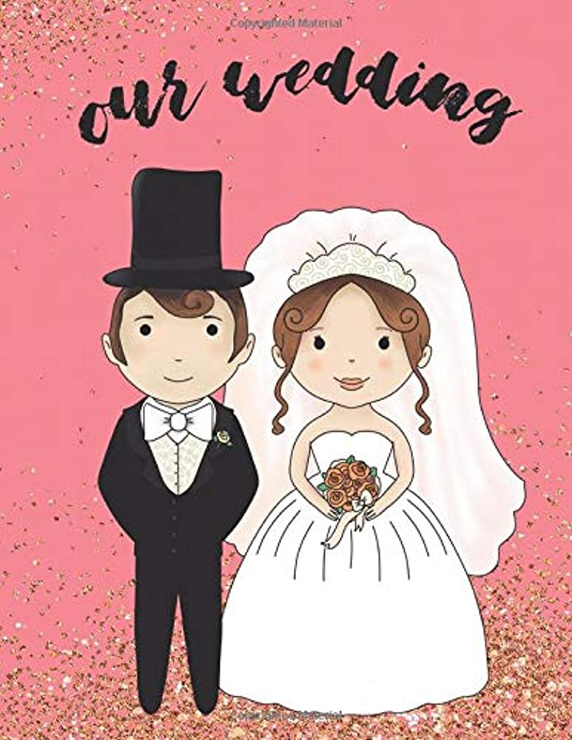 運動する国民主観的Our Wedding: Wedding Planner Organizer Checklist Journal Notebook for Newly Engaged Couple Pink