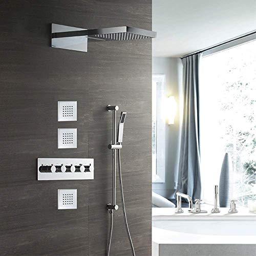 FYYONG Cuatro funciones de la ducha termostática grifo de la ducha oscuro Aerosol de la ducha En La Pared-top hermoso determinado práctica