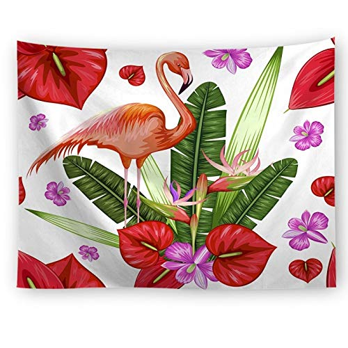 KHKJ Serie Flamingo montado en la Pared decoración del Dormitorio Playa Juego de sofás de Yoga Funda para Dormitorio Manta para Sentarse A4 150x130cm