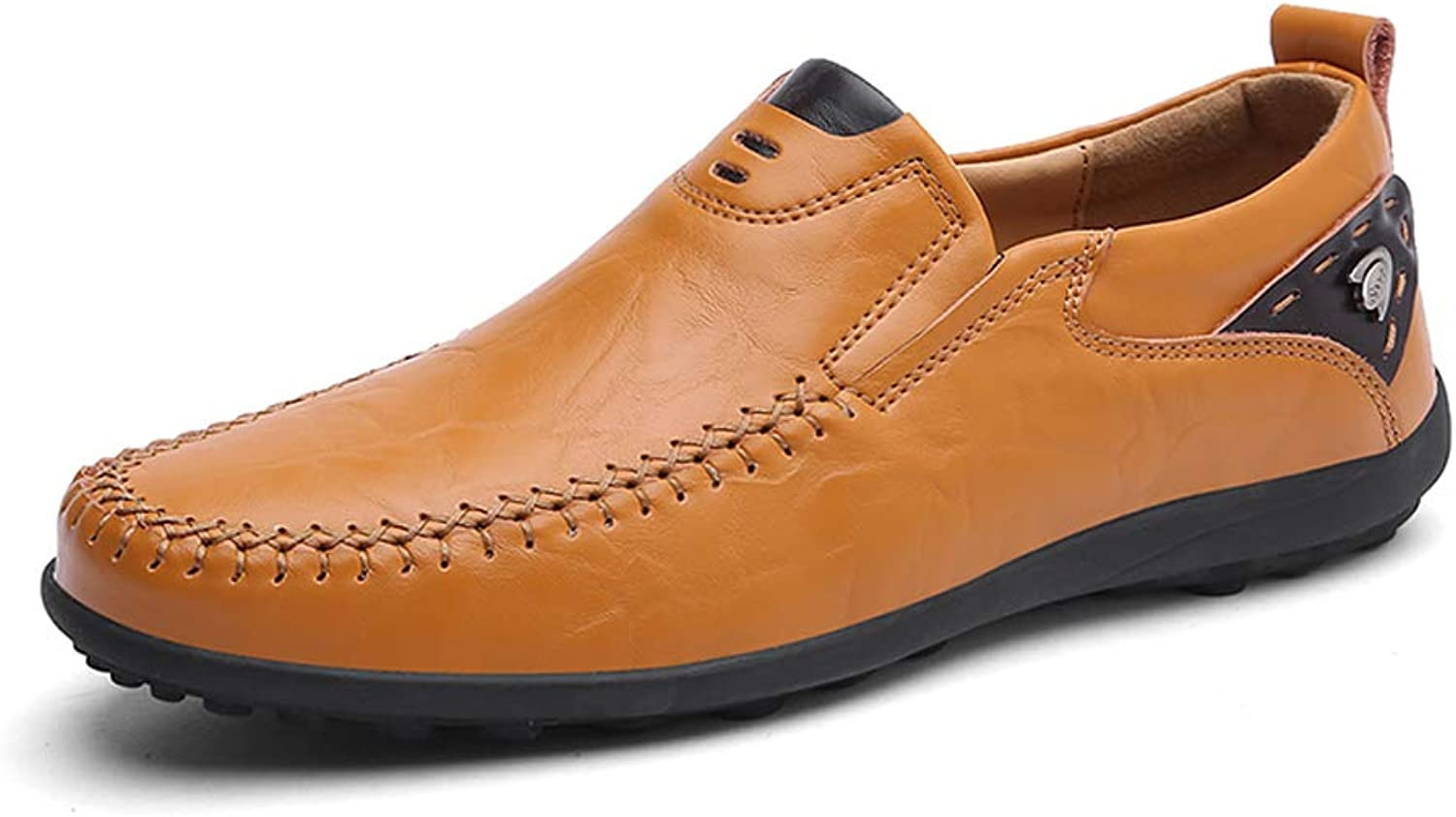 Leather shoes Men's New Business Casual shoes England Dress Youth Men's shoes 47 Extra Large Size Men's Bean Lazy Driving shoes (color   C, Size   41)