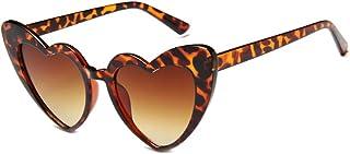 JUSLINK Heart Shaped Sunglasses for Women, Cat Eye Mod...