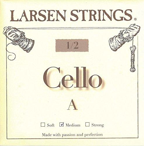 Larsen Saite für Cello kleine Grössen Neue Cello-Saiten für kleine Instrumentengrößen.<p><br>- Kraft und Projektion, wie Saiten für 4/4 Instrumente<p><br>- Warme, reiche und fokussierte Klangfarbe<p><br>- Leichte Saitenansprache und hohe Stimmstabilität<p><br>- G und C in Spiralseil-Technologie für bestmögliche Flexibilität<p><br>- für 1/2 Cello<p><br>- A/D Chromstahl, G/C Wolfram-Kabelkern<p><br>-