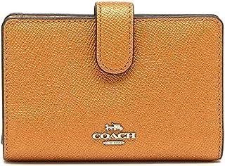 Coach Dark Orange Leather For Women - Flap Wallets