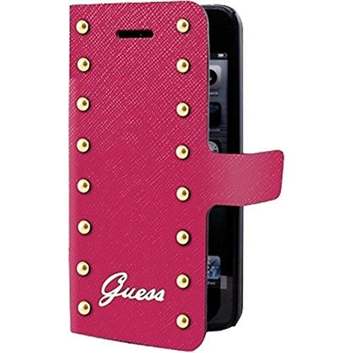 Guess Collection Studded Coque Folio pour iPhone5/5S/SE/ iPhone5/5S/SES Rose
