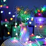 40 LED 16ft Cadena Luces, IP65 Impermeable, Fulighture Decorativas Guirnaldas Luminosas para Exterior, Interior, Jardines, Casas, Boda, Fiesta de Navidad Decoración(Multicolor)