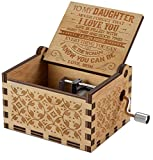 Engraved Music Box - You are My Sunshine, Gift for Daughter from Mom - Hard Times And Good Times (MB-016-MomDau) Christmas Gift Ideas for Daughter