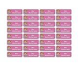 Sunnywall® Namensaufkleber Namen Sticker Aufkleber Sticker 4,8x1,6cm | 60 Stück für Kinder Schule...