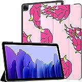 Funda para Samsung Galaxy Tab A7 Tablet de 10,4 Pulgadas 2020 (sm-t500 / t505 / t507), Pitahaya Dragon Fruit Doodle Pattern Funda de Soporte de ángulo múltiple con activación/suspensión automática