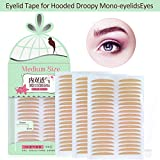 Breathable Fiber Double Eyelid Tape Stickers, Single Side Sticky, Perfect for Hooded, Droopy, Uneven, or Mono-eyelids, Instant Eyelid Lift Without Surgery