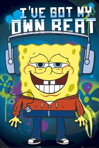Sponge Bob - Headphones Poster - 91.5x61cm