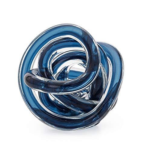 Torre & Tagus Orbit Glass Décor Ball, Small, Indigo Blue