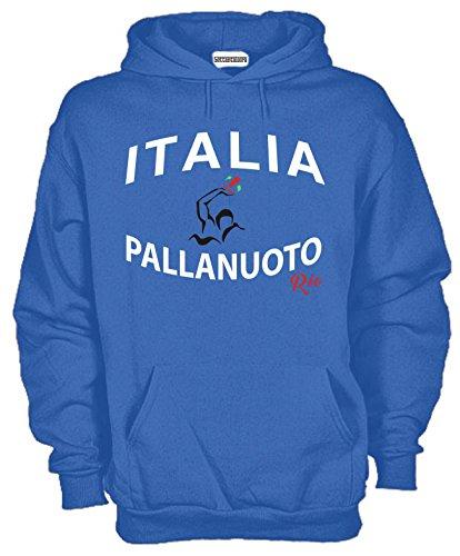 Settantallora - Felpa con Cappuccio KJ1094 Italia Pallanuoto Nazionale Olimpica Taglia S