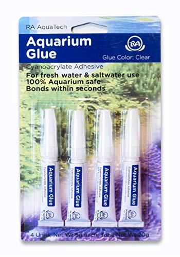 RA AquaTech Aquarium Glue Clear for Plants Corals aquascaping Instant Aquarium Safe (4pcs Pack)