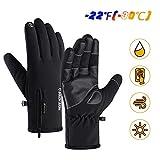 Guanti da Sci Uomo Impermeabile Full Finger Touchscreen Guanti Termici Invernali Grandrelle (-22 ℉ (-30 ℃) per Sci Moto Ciclismo Arrampicata Escursionismo Caccia Sport Outdoor Guanti da Sci (L)