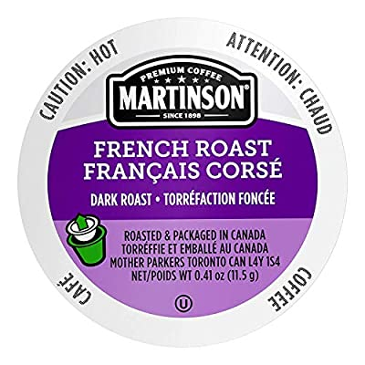 Martinson Single Serve Coffee Capsules, French Roast, 96 count