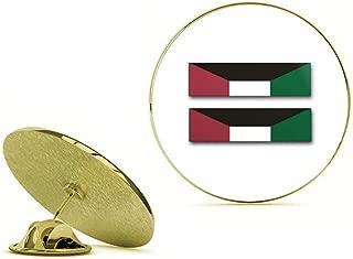 HOF Trading Gold US Army Kuwait Liberation Medal (Kuwait) Ribbon Gold Lapel Pin Tie Suit Shirt Pinback