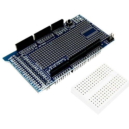 AZDelivery Prototyping Prototype Shield ProtoShield Prototipo con Mini Breadboard compatible con Arduino MEGA 2560 R3 con E-Book incluido!