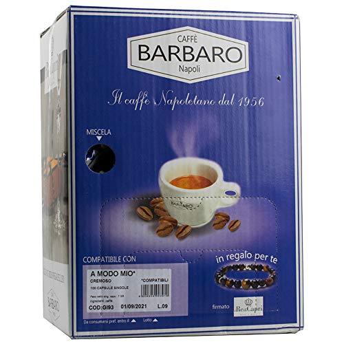 300 CAPSULE CAFFE' BARBARO COMPATIBILI A MODO MIO MISCELA CREMOSO