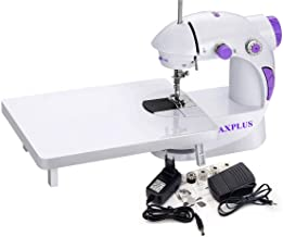 CHILLAXPLUS Mini Portable Electric Dual Speed Sewing Silai Machine with Foot Pedal, Adaptor, Working Light and Extension T...