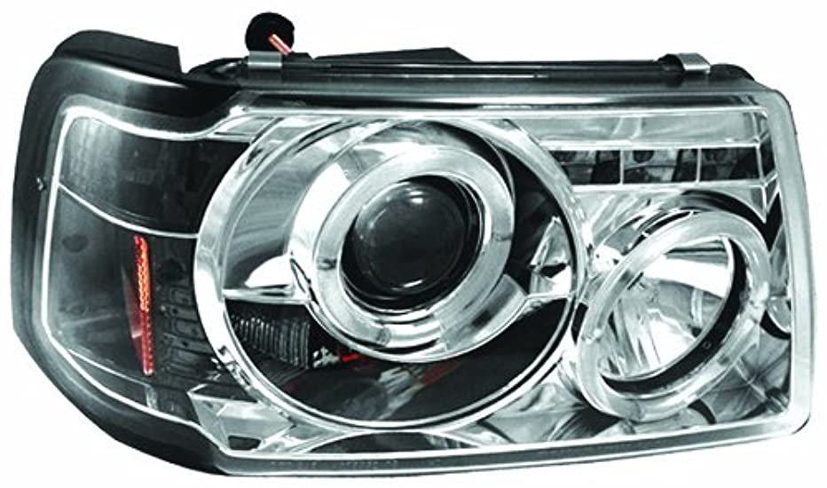 IPCW CWS-507C2 Ford Ranger Chrome Projector Head Lamp with Rings - Pair