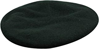 MINAKOLIFE Mens Ladies Military Hat Army Beret Leather Trim with Ribbon