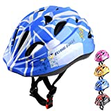 DIZA100 自転車ヘルメット子供 キッズヘルメット 男女兼用 軽量 通気性 スポーツヘルメット サイクリング 保護用ヘルメット(ブルー)