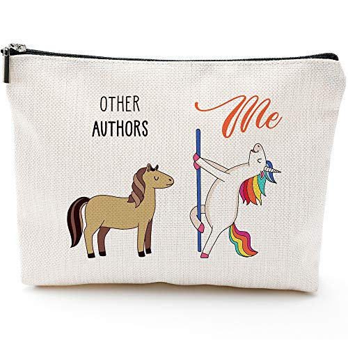 Authors Gifts for Women,Authors Fun Gifts, Authors Bags for Women,Authors Makeup Bag, Make Up Pouch, Authors Birthday Gifts