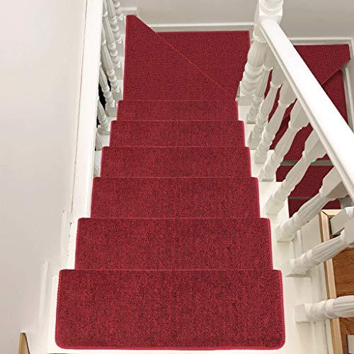 ZSJ carpet Escalera para peldaños - Alfombra autoadhesiva Elegante, Antideslizante y Antideslizante para escaleras, múltiples Colores | Múltiples Tallas (un Juego) (Color : B, Size : 65x24+3)