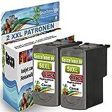 2X Tintenpatrone Ersatz für Canon PG-50 XL Schwarz Black BK für Canon PIXMA MP140 MP450 MP190 MP210 MP220 MP470 MP460 IP2500 IP1800 IP1900 MX300 IP2600 IP1600 IP2200 IP1700