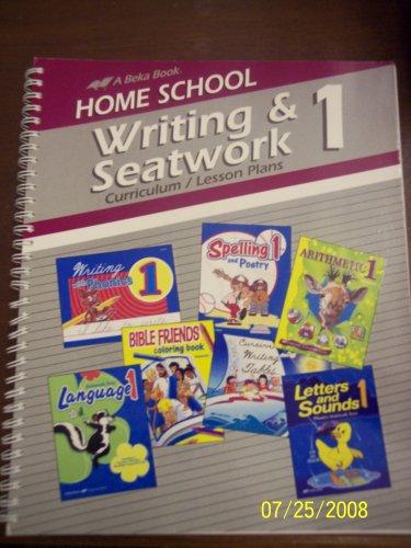 Home School Writing & Seatwork Curriculum/Lesson Plans Grade 1 A Beka.