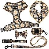 PawHQ 6 Piece Set Dog Harness Collar Leash...