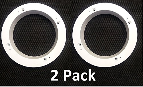 2 Pack White Plastic 1' Depth Ring Adapter Spacer for 5.25'- 6' Car Speaker USA