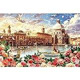 ZHLMMZD 6000 Piezas de Rompecabezas para Adultos y niños Gran Rompecabezas de Juguete de regalo-6000 Piezas de Rompecabezas de Venecia romántica