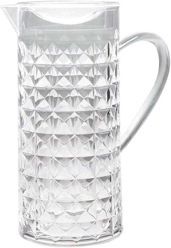 Bekmore Acrylic Water Pitcher Great For Iced Tea Water And Juice BPA Free 52 Ounces Clear