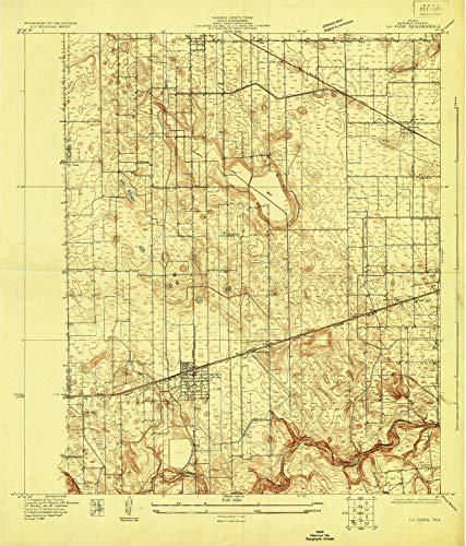 YellowMaps La Feria TX topo map, 1:24000 Scale, 7.5 X 7.5 Minute, Historical, 1929, 26.9 x 23 in - Paper