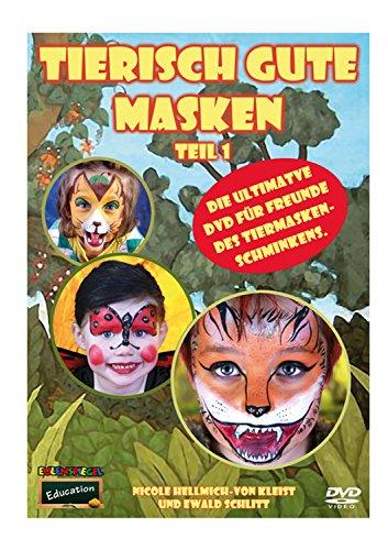 Búho Espejo animales isch Buena Máscaras con DVD 1+ 2, 3unidades)
