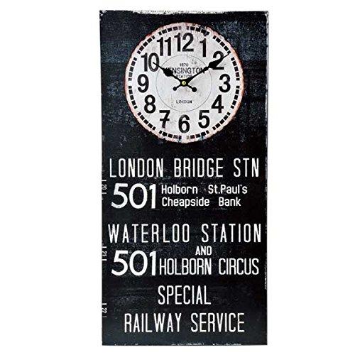アンティーク クロック バスロールサイン(KS/ロンドン)レトロ調 ビンテージ クロック 壁掛け時計 時計 アメリカン雑貨 アメ雑貨 看板