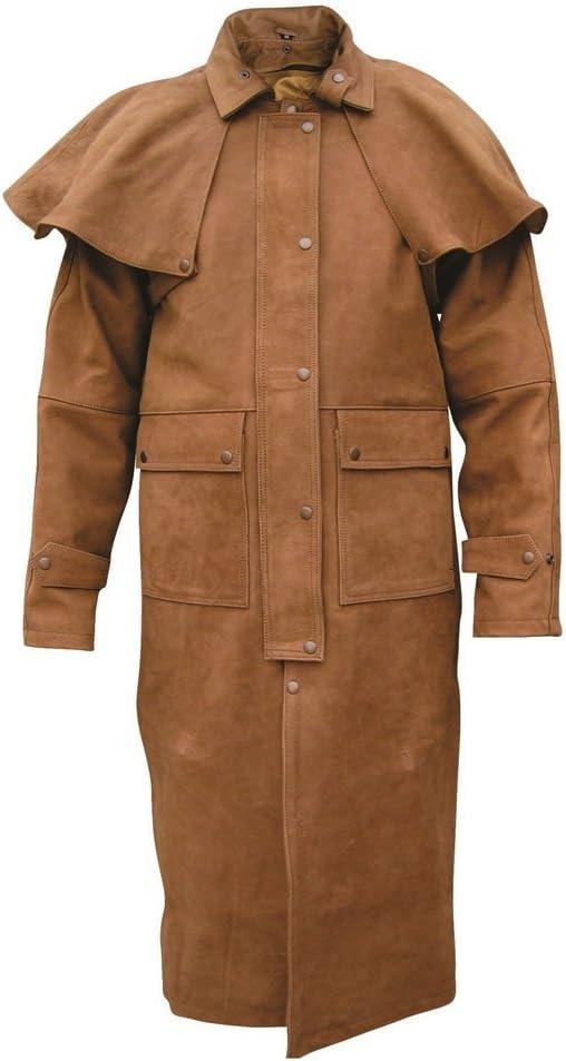 Men's AL2602 Leather Duster